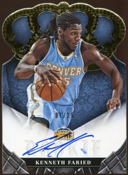 2012/13  Panini Preferred Gold #392 Kenneth Faried CR Autograph 7/25