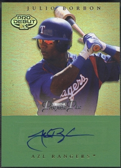 2007 TRISTAR Prospects Plus #72 Julio Borbon Green Rookie Auto #08/50
