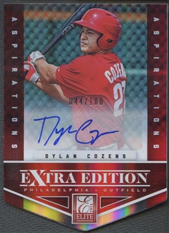 2012 Elite Extra Edition #26 Dylan Cozens Signature Aspirations Rookie Auto #044/100