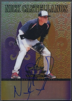 2012 Leaf Valiant Draft #NC1 Nick Castellanos Purple Rookie Auto #09/25