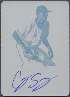 2012 Leaf Metal Draft #CS1 Corey Seager Printing Plate Magenta Rookie Auto #1/1