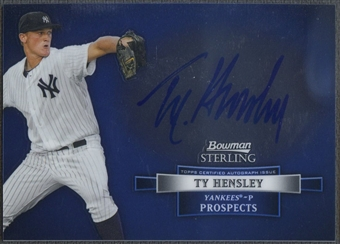 2012 Bowman Sterling #TH Ty Hensley Prospect Rookie Auto