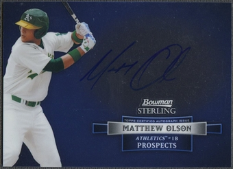 2012 Bowman Sterling #MO Matthew Olson Prospect Rookie Auto
