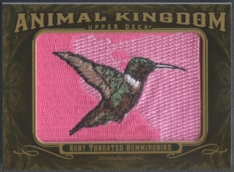 2011 Upper Deck Goodwin Champions #AK28 Ruby Throated Hummingbird Animal Kingdom Patch