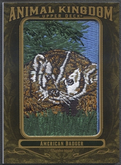 2011 Upper Deck Goodwin Champions #AK40 American Badger Animal Kingdom Patch