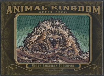 2011 Upper Deck Goodwin Champions #AK41 North American Porcupine Animal Kingdom Patch