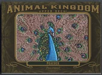2011 Upper Deck Goodwin Champions #AK45 Peacock Animal Kingdom Patch
