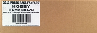 2013 Press Pass Fanfare Racing Hobby 20-Box Case