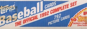 1992 Topps Baseball Factory Set (white box)