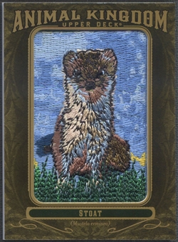 2011 Upper Deck Goodwin Champions #AK49 Stoat Animal Kingdom Patch