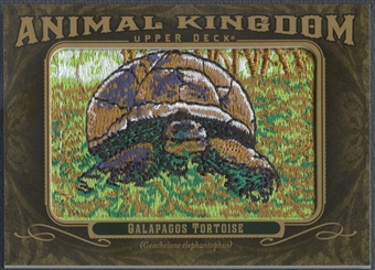 2011 Upper Deck Goodwin Champions #AK66 Galapagos Tortoise Animal Kingdom Patch