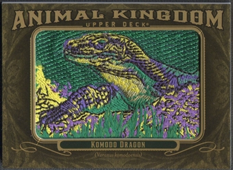 2011 Upper Deck Goodwin Champions #AK70 Komodo Dragon Animal Kingdom Patch