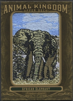 2011 Upper Deck Goodwin Champions #AK71 African Elephant Animal Kingdom Patch