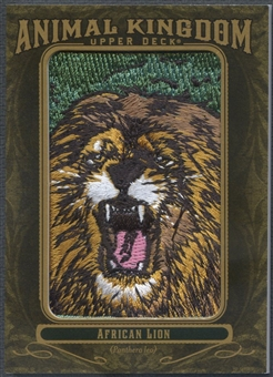 2011 Upper Deck Goodwin Champions #AK75 African Lion Animal Kingdom Patch