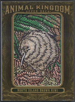 2011 Upper Deck Goodwin Champions #AK76 North Island Brown Kiwi Animal Kingdom Patch
