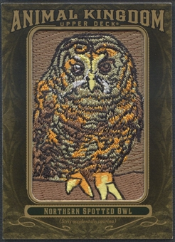 2011 Upper Deck Goodwin Champions #AK77 Northern Spotted Owl Animal Kingdom Patch