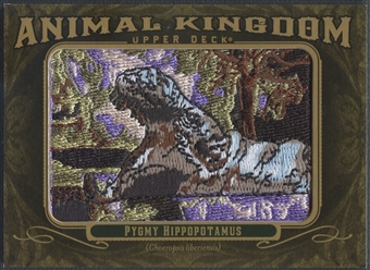 2011 Upper Deck Goodwin Champions #AK83 Pygmy Hippopotamus Animal Kingdom Patch