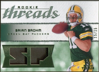 2008 Upper Deck SP Rookie Threads Rookie Threads Patch #RTBB Brian Brohm /15