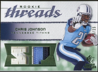 2008 Upper Deck SP Rookie Threads Rookie Threads Patch #RTCJ Chris Johnson /15