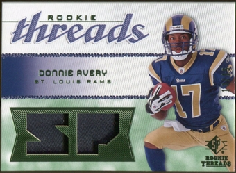 2008 Upper Deck SP Rookie Threads Rookie Threads Patch 15 #RTDA Donnie Avery /15