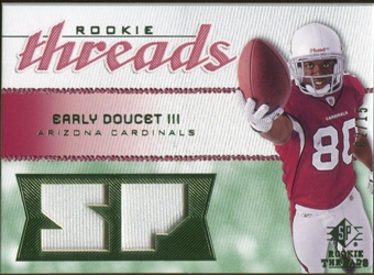 2008 Upper Deck SP Rookie Threads Rookie Threads Patch #RTED Early Doucet /15