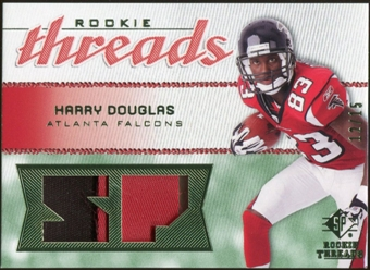 2008 Upper Deck SP Rookie Threads Rookie Threads Patch 15 #RTHD Harry Douglas /15