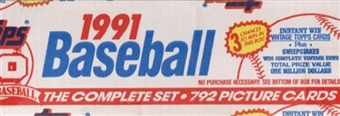 1991 Topps Baseball Factory Set (white box)