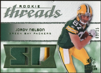 2008 Upper Deck SP Rookie Threads Rookie Threads Patch #RTJN Jordy Nelson /15