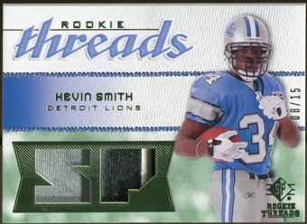 2008 Upper Deck SP Rookie Threads Rookie Threads Patch #RTKS Kevin Smith /15