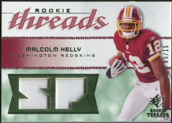 2008 Upper Deck SP Rookie Threads Rookie Threads Patch #RTMK Malcolm Kelly /15