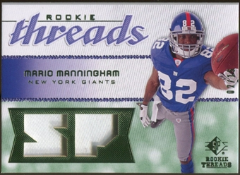 2008 Upper Deck SP Rookie Threads Rookie Threads Patch #RTMM Mario Manningham /15