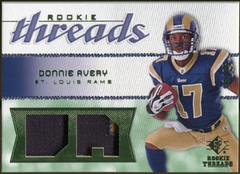 2008 Upper Deck SP Rookie Threads Rookie Threads Patch 25 #RTDA Donnie Avery /25