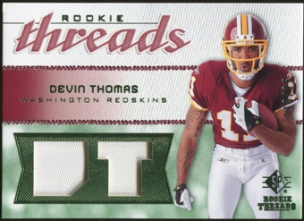 2008 Upper Deck SP Rookie Threads Rookie Threads Patch #RTDT Devin Thomas /25