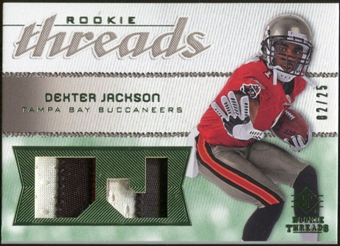 2008 Upper Deck SP Rookie Threads Rookie Threads Patch 25 #RTDX Dexter Jackson /25