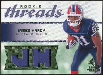 2008 Upper Deck SP Rookie Threads Rookie Threads Patch #RTJH James Hardy /25