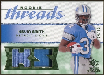 2008 Upper Deck SP Rookie Threads Rookie Threads Patch #RTKS Kevin Smith /25