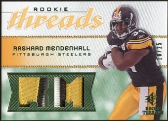 2008 Upper Deck SP Rookie Threads Rookie Threads Patch #RTRM Rashard Mendenhall /25