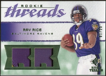 2008 Upper Deck SP Rookie Threads Rookie Threads Patch 25 #RTRR Ray Rice /25