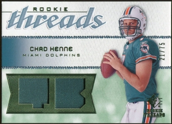 2008 Upper Deck SP Rookie Threads Rookie Threads Patch #RTCH Chad Henne /75