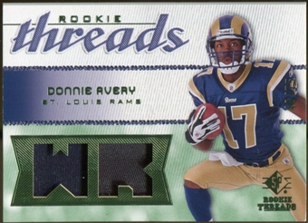 2008 Upper Deck SP Rookie Threads Rookie Threads Patch 75 #RTDA Donnie Avery /75
