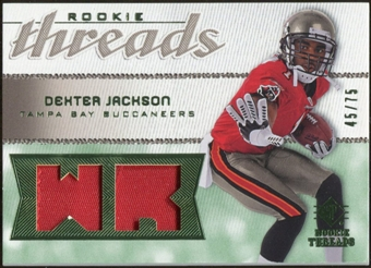 2008 Upper Deck SP Rookie Threads Rookie Threads Patch 75 #RTDX Dexter Jackson /75