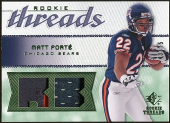 2008 Upper Deck SP Rookie Threads Rookie Threads Patch 75 #RTFO Matt Forte /75