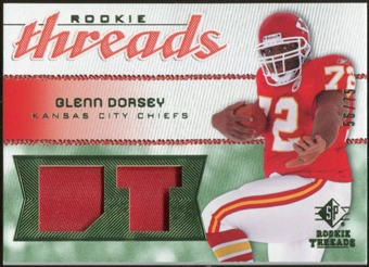 2008 Upper Deck SP Rookie Threads Rookie Threads Patch #RTGD Glenn Dorsey /75