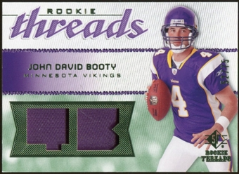 2008 Upper Deck SP Rookie Threads Rookie Threads Patch 75 #RTJB John David Booty /75