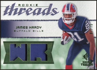 2008 Upper Deck SP Rookie Threads Rookie Threads Patch #RTJH James Hardy /75