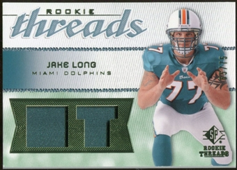 2008 Upper Deck SP Rookie Threads Rookie Threads Patch 75 #RTJL Jake Long /75