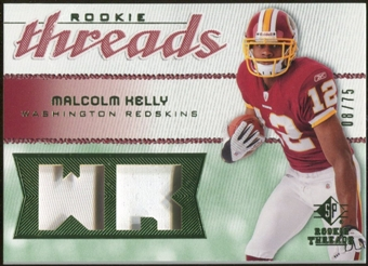 2008 Upper Deck SP Rookie Threads Rookie Threads Patch 75 #RTMK Malcolm Kelly /75