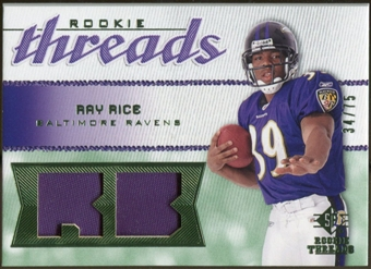2008 Upper Deck SP Rookie Threads Rookie Threads Patch 75 #RTRR Ray Rice /75