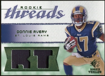 2008 Upper Deck SP Rookie Threads Rookie Threads Patch 99 #RTDA Donnie Avery /99