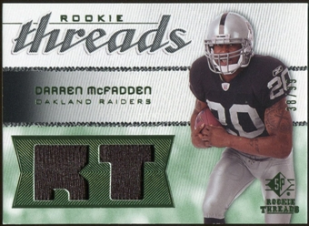 2008 Upper Deck SP Rookie Threads Rookie Threads Patch 99 #RTDM Darren McFadden /99